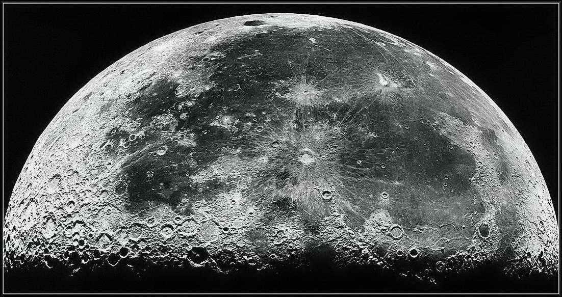 Фото обратной стороны луны высокого разрешения